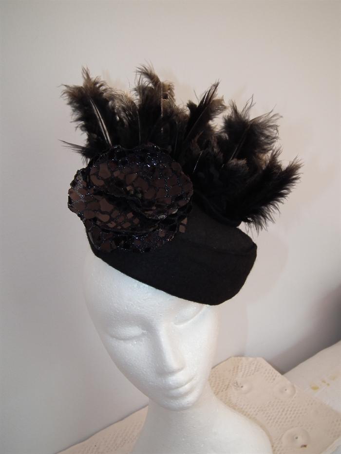 f2f4a0e19 Gold Nightlife.. SALE autumn winter felt handmade hat headpiece ...
