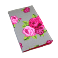 2016 Slimline Planner/Diary - Pink Roses on Grey Spots