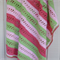 spring baby blanket | watermelon, pink, lime green | girl, birthday gift, travel