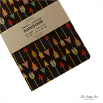 Brown Arrows Fabric Covered Notebook
