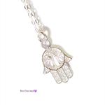 Hamsa necklace, sterling silver