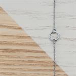 Mini Circle Bracelet in Black