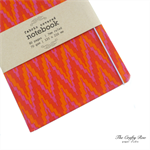 Orange Red Purple Chevron Fabric Covered Notebook