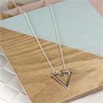 Aztec Silver Tri Necklace