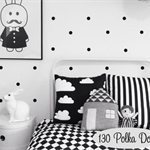 130 Polka Dots Peel and Stick Wall Circle Spots Decal Vinyl