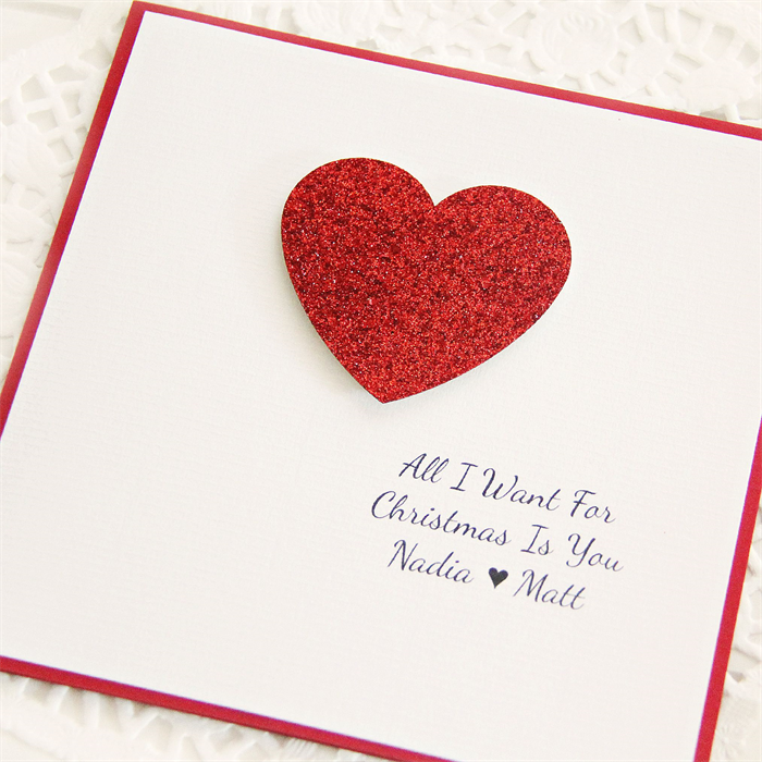 Custom Christmas Love card all I want for is you husband wife ...