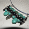 Blue Fire..SALE stunning necklace pendant Pearls Labradorite Sunstone Turquoise