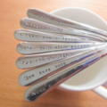 5 x Custom Spoons.Your Words Or Choose From Premade Ones. Hand Stamped,teaspoon