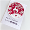 Christmas sparkle red glitter laser cut reindeer snowflakes teacher friend card
