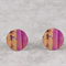 Pink Stud Earrings - Yellow and Pink Stud - China