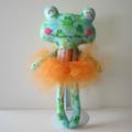 Green Girl Frog Softie Doll