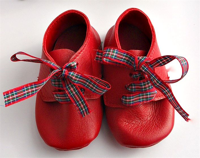 Handmade Leather baby shoes - Red Soft soled baby booties ... 8317be35460e