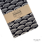 Plum Waves Fabric Covered Notebook