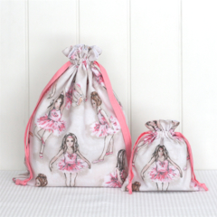 Ballerina Drawstring Bags - Set of 2