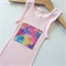 Pastel Pink Arrows Watercolour Singlet, Appliqued Singlet, Cotton, Size 00