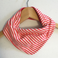 Red Stripes ORGANIC & Cotton Bandana bib Absorbent with STAY-DRY backing