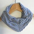 Blue Stripes ORGANIC & Cotton Bandana bib Absorbent with STAY-DRY backing