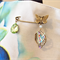 Kilt Pin Brooch, hand painted butterfly shawl pin