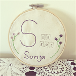 Is For | embroidery hoop wall hanging