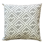 Grey and White Geometric Cushion Cover