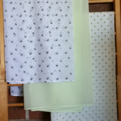 Muslin wrap / swaddle / receiving blanket, pack of three. Unisex.