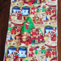 Christmas Bib and Burp cloth set - Teddy Bear motif - Large