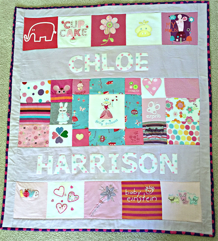 Custom Made Baby Clothes Memory Quilt Frank Milly Madeit