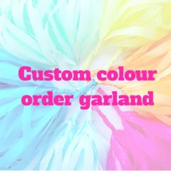 Custom tassel garland