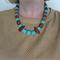 Dreams turquoise blue and wood necklace by Sasha + Max Studio