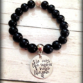 Friend Funny Inspirational Saying Personalised Name Hand Stamped Bead Bracelet
