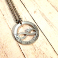 Personalised Hand Stamped Infinity Heart Design Name Family Pendant Necklace