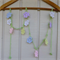 Flower garland | crochet bunting | nursery, baby shower gift, party decor