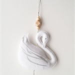 Swan Wall Charm in White