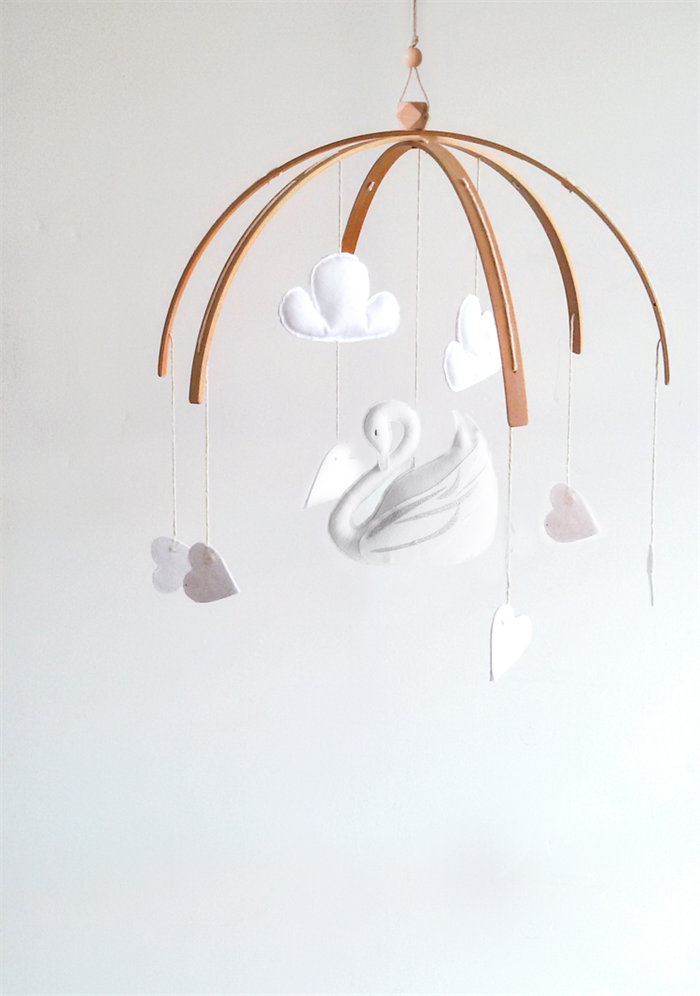 The Swan Nursery Mobile In White Available Now