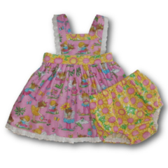 CLEARANCE... SIZE 0 Baby Sunflower Fairies Boo Pinafore SET