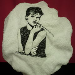 Ladies After Shower Towel Cap - Black Dress