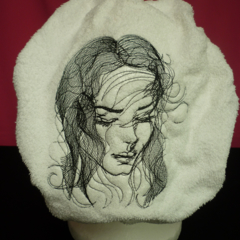 Ladies After Shower Towel Cap - Romance 1 Black