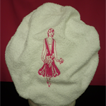 Ladies After Shower Towel Cap WM7 Hot Pink