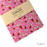 Pink Carrot Fabric Covered Notebook