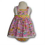 SIZE 0 Baby Sunflower Fairies Boo Pinafore SET