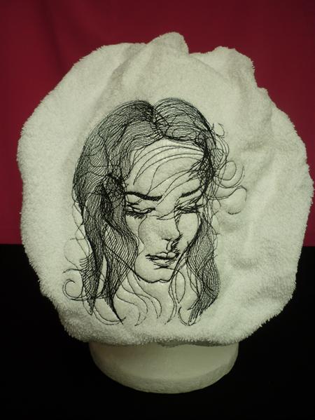 Ladies After Shower Towel Cap - Romance 1 Black
