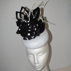 Pretty Woman..SALE   autumn winter black white monochrome headpiece races event