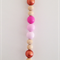 Custom Made Ombre Pink Natural Bead Tassel Wall Hanging.