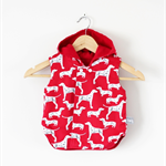Twig Reversible Vest - Red Dalmatians and Dachshunds Fabric