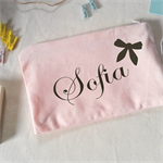 Made to order Pink Pouch / Bridal Gifts / Personalized Pouch / Engagement Gift
