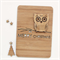 Custom Christmas card laser cut and bamboo ply wood owl personalised