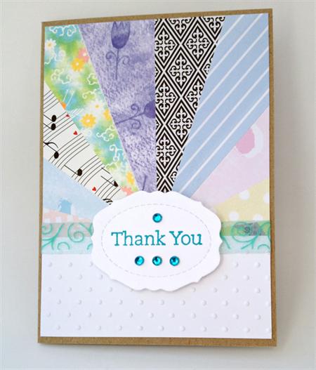 Thank You Card - Star Burst