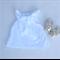 Size 4 - Pretty white pom pom ruffle neck top