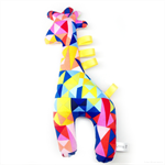 Geometric Giraffe Tag Toy Rattle