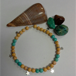 Beachy Riverstone Anklet